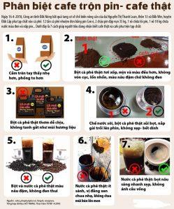 Phân biệt cà phê thật, cà phê giả dễ dàng