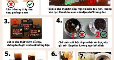 Cách đơn giản để phân biệt cà phê trộn pin và cà phê thật