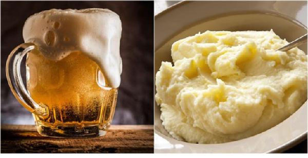 Cách làm trắng da mặt bằng bia khoai tây hiệu quả