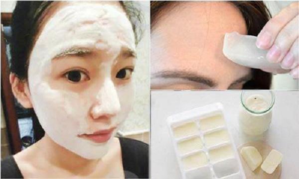 Cách làm trắng da mặt tự nhiên từ sữa đá