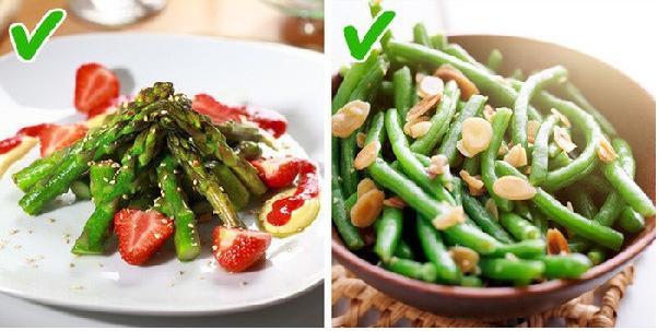 Đỗ que và măng tây thực phẩm vàng giúp chị em giảm cân nhanh chóng