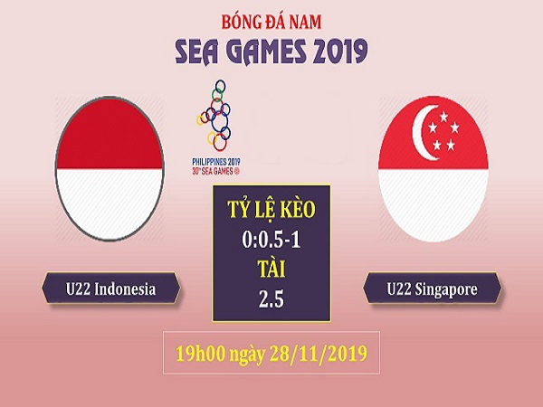 Soi kèo U22 Indonesia vs U22 Singapore, 19h00 ngày 28/11: SEA Games 30