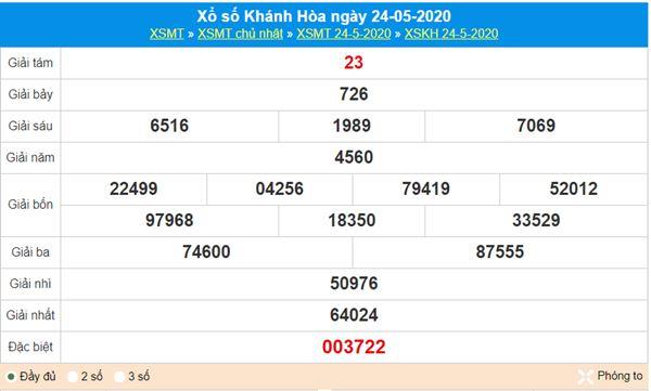 Soi cầu XSKH 27/5/2020, chốt KQXS Khánh Hòa chuẩn nhất