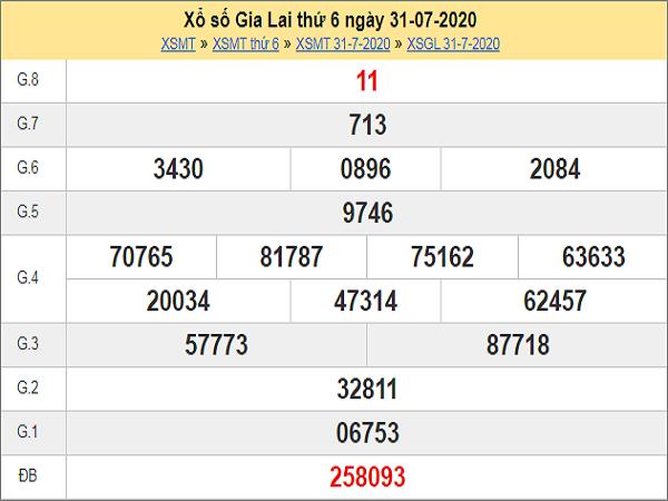 Soi cầu XSGL 7/8/2020