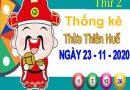 Thống kê XSTTH ngày 23/11/2020 – Thống kê xổ số Thừa Thiên Huế thứ 2
