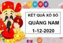 Soi cầu xổ số Quảng Nam thứ 3 ngày 1/12/2020