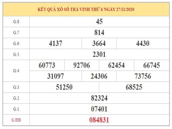 Nhận định KQXSTV ngày 4/12/2020 dựa trên kết quả kì trước