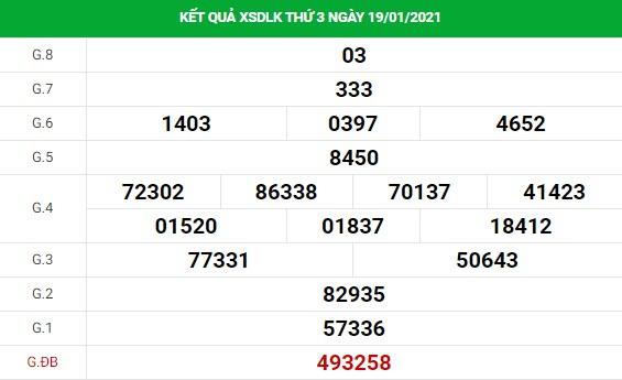 Soi cầu XS Daklak chính xác thứ 3 ngày 26/01/2020