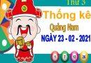 Thống kê XSQNM ngày 23/2/2021 – Thống kê KQXS Quảng Nam thứ 3