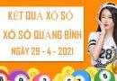 Thống kê xổ số Quảng Bình thứ 5 ngày 29/4/2021