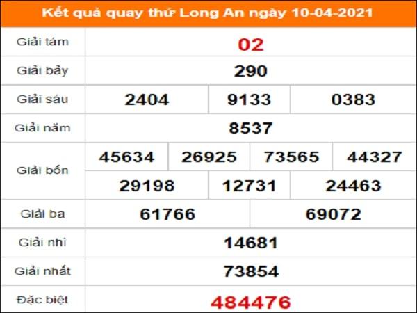 Quay thử xổ số Long An ngày 10/4/2021