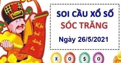 Soi cầu XSST ngày 26/5/2021