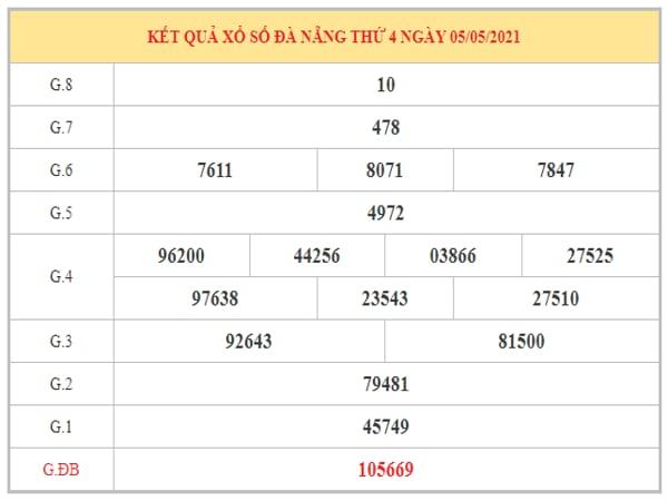 Dự đoán XSDNG ngày 8/5/2021 dựa trên kết quả kì trước