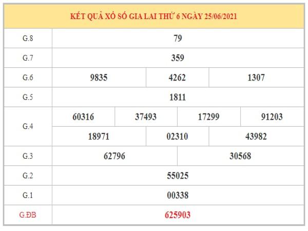 Nhận định KQXSGL ngày 2/7/2021 dựa trên kết quả kì trước
