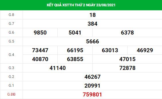 Thống kê soi cầu xổ số Thừa Thiên Huế ngày 30/8/2021 hôm nay