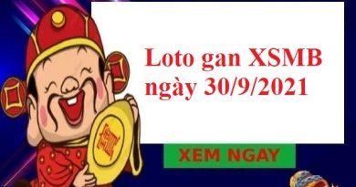Loto gan KQXSMB ngày 30/9/2021